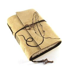 Very unique leather journal.