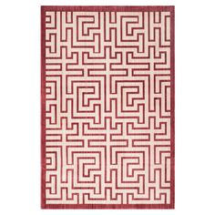 Anchor your living room seating group or define space in the den with this loomed rug, featuring an abstract geometric motif for eye-catching appeal.