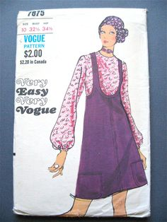 Uncut 70s Vogue 7875 Sewing Pattern  Bust 32.5 inches by Fancywork, $14.00