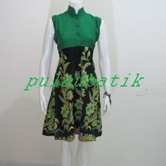 DRESS BATIK MURAH ONLINE DB199 harga dress batik terbaru yang murah ada di katalog online http://pulaubatik.com