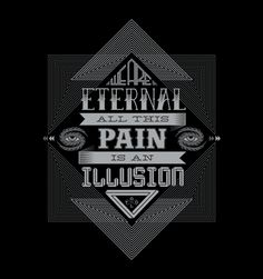 """""""We are eternal, all this pain is an illusion."""" Tool fans, get this music t-shirt inspired by lyrics from the song Parabola - from the band's legendary Lateralus album. Tool - Parabola by Anish Sundaran is available now on t-shirts and accessories on Redwolf.in"""