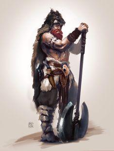 Barbarian- character sketch by Oana-D on DeviantArt Rune Viking, Viking Art, Viking Warrior, Dungeons And Dragons Characters, Dnd Characters, Fantasy Characters, Character Sketches, Character Portraits, Fantasy Character Design