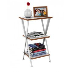 DAR Genius 3-Tier Shelving (€90) ❤ liked on Polyvore featuring home, furniture, storage & shelves, bookcases, white, stackable storage shelves, 3 shelf bookcase, white book shelves, book shelf and storage shelf
