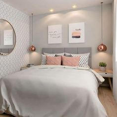 20 inspirations pour aménager et décorer toutes les petites chambres Dream Rooms, Dream Bedroom, Home Decor Bedroom, Warm Bedroom, Bedroom Art, Bedroom Themes, Teen Bedroom, Bedroom Colors, Girl Bedroom Designs