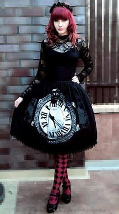 Goth ALice in Wonderland Lolota dress