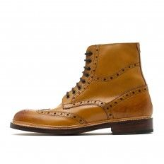 Wren Boot with Punch Details in Brown  Brogue boots oliver Sweeney