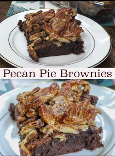 Baking Pecan Pie Brownies are easy to make and a wonderful dessert any time of year, but especially around the holidays. The brownies are a decadent and rich treat that you are going to fall in love with. Quick Dessert Recipes, Easy Pie Recipes, Pecan Recipes, Brownie Recipes, Baking Recipes, Cookie Recipes, Chocolate Recipes, Pecan Desserts, Easy Desserts