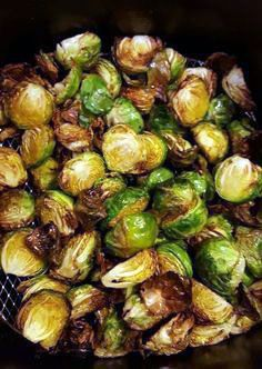 Air Fryer Recipes For Vegetables - SheKnows. Air Fried Brussel Sprouts Beauty And The Bench Press. Air Fried Brussel Sprouts Beauty And The Bench Press. Home and Family Air Fryer Oven Recipes, Air Frier Recipes, Air Fryer Dinner Recipes, Four Halogène, Fried Brussel Sprouts, Brussels Sprouts, Air Fryer Recipes Brussel Sprouts, Air Fryer Recipes Vegetables, Cooking Vegetables