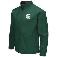 Michigan State Spartans Colosseum Big & Tall Carrier Full-Zip Jacket - Green - $59.49