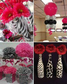 zebra theme girls birthday zebra party custom photo banner 6ft