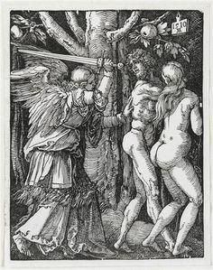 Albrecht Dürer - Adam et Eve chassés du Paradis, 1510