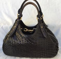 Cole Haan Hobo Bag Purse Genevieve Black Leather Gold Hardware Everyday Carry in Clothing, Shoes & Accessories, Women's Handbags & Bags, Handbags & Purses | eBay