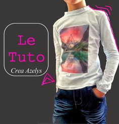 Le petit monde d'Azelys: My little basic le Tee shirt jersey - Pattern Free Patron T Shirt, Techniques Couture, Couture Sewing, Pull, Free Pattern, Tee Shirts, Graphic Sweatshirt, Sweatshirts, Sweaters
