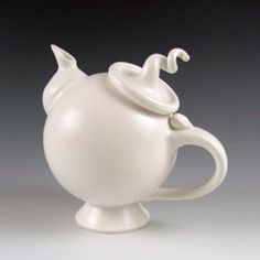 Whimsical Round Teapot--I am thinkin' this could be a cake.
