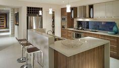Quartz Kitchen Countertop - Caesarstone Linen - 2230 #kitchenandbathmonth #nkba
