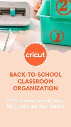Classroom Organization Labels, Back To School Organization, Organizing Labels, Classroom Supplies, Classroom Projects, School Classroom, Desk Organization, Vinyl Projects, Classroom Ideas