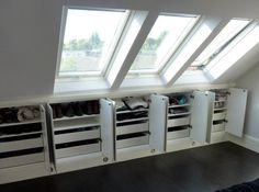Image result for fitted wardrobe sloping ceiling dormer window