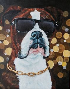 023e91aa8fc3 79 Best Colourful Dog Art and Pet Portraits images in 2018 | Dog ...