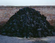 Liu Bolin, Pile of Coal (Series 'Hide in the City')
