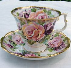 Royal Albert patterned Tea Cup and Saucer