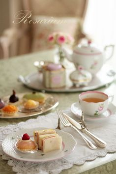 So sweet - afternoon tea. ....♥♥