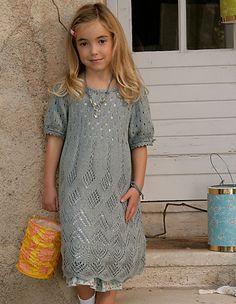 Ravelry: #64 Kinderkleid mit Ajourmuster-Mix pattern by Elisabeth Plauert