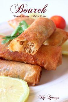 brick a la viande hachée et pois chiche Salty Foods, Oriental Food, No Cook Meals, Sweet Potato, Potatoes, Dishes, Vegetables, Cooking, Moroccan