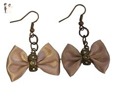 Light Pink Cosplay Bows with Rhinestones Dangle Earrings - Bridesmaid gifts (*Amazon Partner-Link)