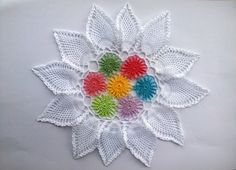 Zinnia crochet doily lace doily 11.5 inches by EstersDoilies #crochet #doily