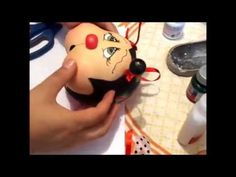 Porta pano de prato de joaninha 3D em e.v.a (Parte 5 Final)