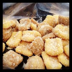 Skinny Puppy Chow ... Ingredients include: instant vanilla pudding, chex cereal, peanut butter, vanilla almond bark, butter.