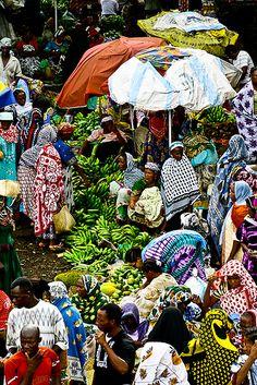 Volovolo market in Moroni, Comoros