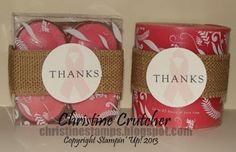 some decorated candles from Christmas Tree Shop #stampinup #mydigitalstudio