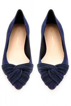 Loeffler Randall flats in a lovely shade somewhere between a stormy purple plum and midnight blue. Great for fall