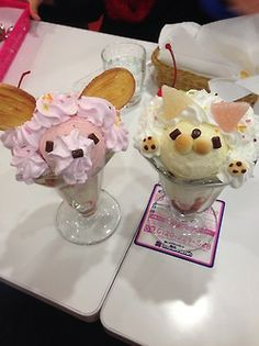 anomala kawaii ice cream discovered by Viktuuri_OnIce Japanese Snacks, Japanese Sweets, Japanese Food, Cute Desserts, Delicious Desserts, Yummy Food, Yummy Treats, Sweet Treats, Kawaii Dessert