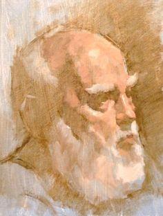 David Tanner, Study, Old Man With Beard Oil x Old Man With Beard, Beard Oil, Old Men, Bearded Men, Figurative, David, Study, Portrait, Painting
