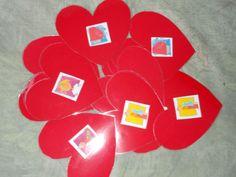 moederdag memory in de vorm van hartjes
