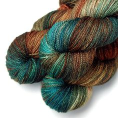 Silk Merino 50/50 Heavy Fingering Yarn  Big Cypress by JulieSpins, $30.00