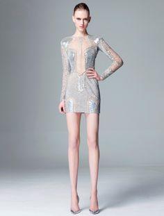 Beautiful sliver dress❣ Zuhair Murad • fashiondecent.com