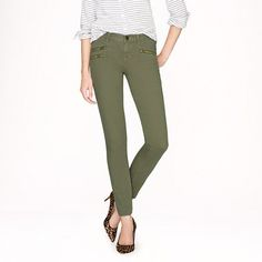 J.Crew - Toothpick jean with zippers