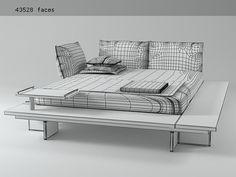 Ligne Roset Maly Bed 3d model  Peter Maly DIY version, someday...?