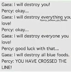 Percy's a little overprotective about his Blue Food....