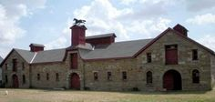 The Adams stone barn, built in 1885 near Sun River Montana, is on the National Register of Historic Places.