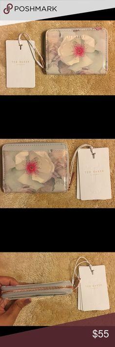 Ted Baker mini Chelsea zip purse/wallet grey New TED BAKER LONDON MINI CHELSEA PURSE WALET in grey. Retails at 68.00& Ted Baker London Bags Wallets