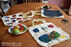 Apple Printed Canvas Bags - Aileen Cooks