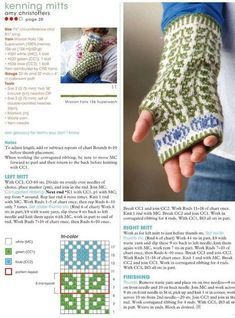 Community wall photos, – Knitting patterns, knitting designs, knitting for beginners. Knitting Charts, Loom Knitting, Knitting Socks, Knitting Patterns Free, Mittens Pattern, Knit Mittens, Knitted Gloves, Wrist Warmers, Hand Warmers