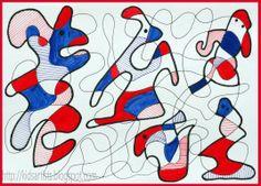 Kids Artists  organic or free form shape