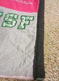 While They Snooze: Fall T-Shirt Quilt Tutorial