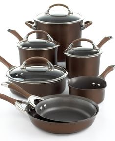 Circulon Symmetry Cookware Set, 11 Piece Chocolate - Circulon - Kitchen - Macy's.....awesome induction cookware for the price!!!