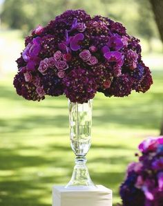 purple reception wedding flowers,  wedding decor, purple wedding flower centerpiece, purple wedding flower arrangement, add pic source on comment and we will update it. www.myfloweraffair.com